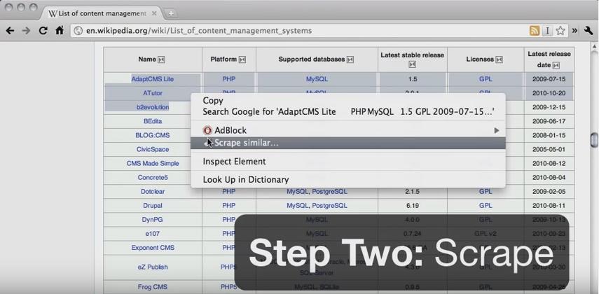 Scraper - web scraping plataforma plugin