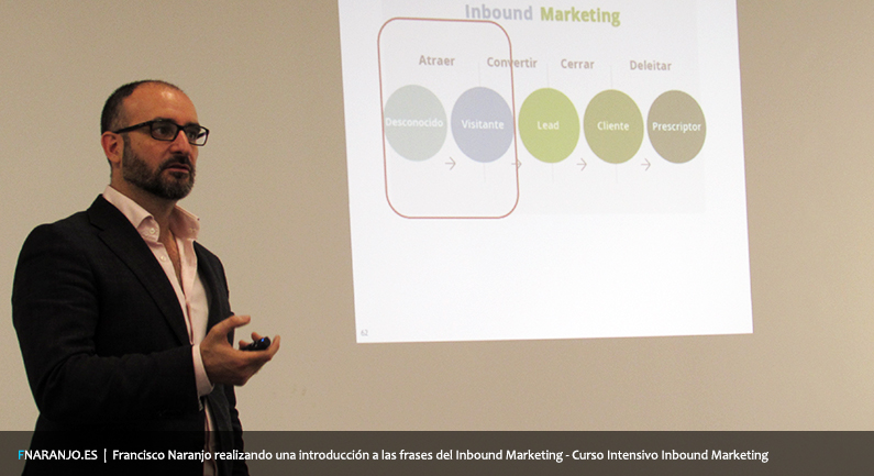 Francisco naranjo explicando las fases de inbound marketing